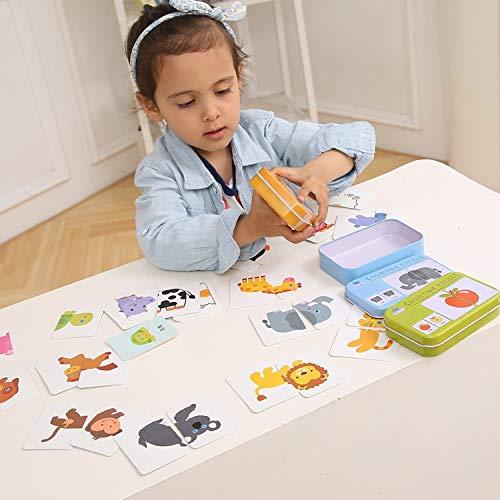 AEAP Graph Match Game Kid frühes Lernspielzeug Puzzle-Karte Cartoon Fahrzeug Lernen Pocket Flash-Karte MG09