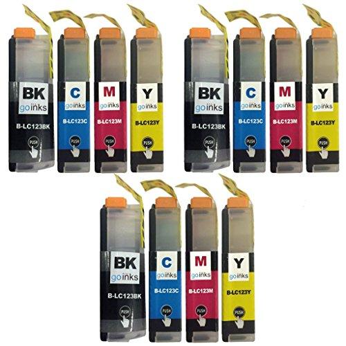 3 Lot de 4 cartouches Brother LC123 Encre Compatible (12 Encres) pour Brother DCP-J132W, DCP-J152W, DCP-J4110DW, DCP-J552DW, DCP-J752DW, MFC-J4410DW, MFC-J4510DW, MFC-J4610DW, MFC-J470DW, MFC-J4710DW, MFC-J650DW, MFC-J6520DW, MFC-J6720DW, MFC-J6920DW, MFC-J870DW