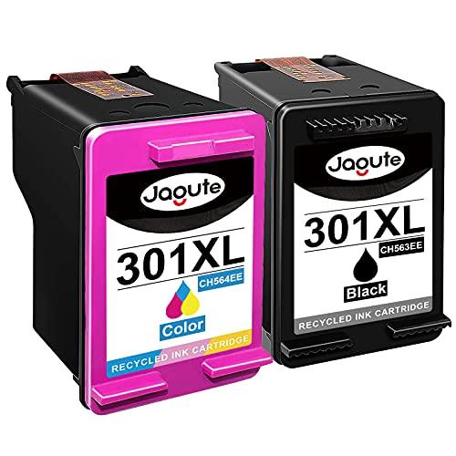 Jagute 301XL - Cartuchos de tinta remanufacturados para HP 301 301XL para HP Officejet 2620 2624 4630 4636, HP Deskjet 1000 1050 2050 2054A 3000 3050, HP Envy 4507 555 36.