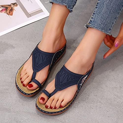 Ksnrang Sandalias Sandalias Sandalias 41-43 Zapatos de Gran tamaño Zapatos de Mujer...