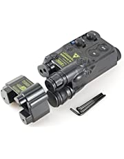 ATAIRSOFT Tactical Airsoft PEQ16 Caja de batería Black Dummy AEG Con RIS Mount Black EX1402