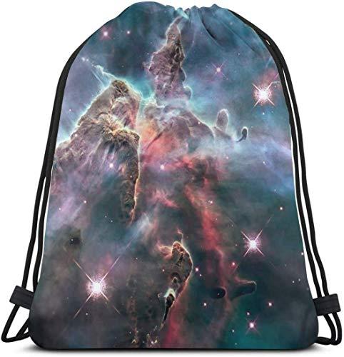 NA Carina Nebula Beeld Door De Hubble Space Telescop Gepersonaliseerde Klassieke Draagbare Trekkoord Rugzak 14.2