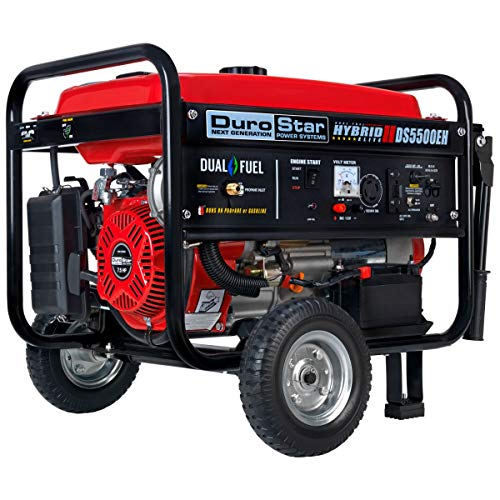 DuroStar DS5500EH 5500 Watt Portable Electric Start Dual Fuel Generator