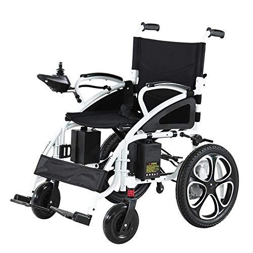 Sterke en stevige rolstoelen lichtgewicht Folding Elektrische met verstelbare Kantelsteunen Wheel + Intelligent Joystick, Stroom of gebruik als handrolstoel Zetelbreedte 17inches met Controller