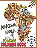 Amazing Africa Coloring Book For Kids: African Animals, Egyptian Pharaoh, Nefertiti, African Dresses, Tribal Queen, African Sfari, Giza Pyramids, Nelson Mandela and Color More!!!
