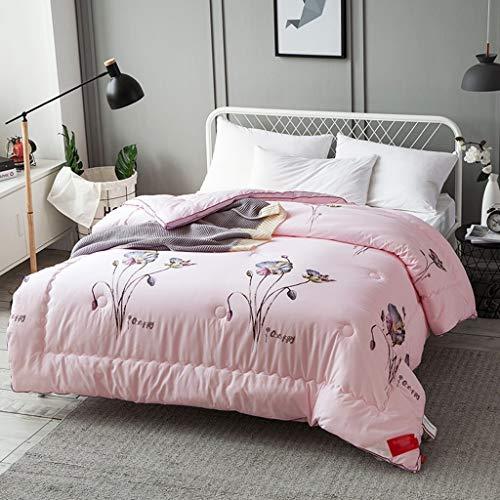 Couvre-lit en patchwork pour lit double, hypoallergénique, 200 x 230 cm, rose
