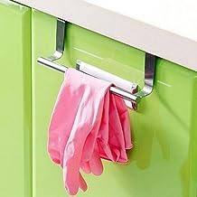 Clenp Towel Rail Towel Rack Holder, Bathroom Kitchen Cabinets Over Door Hanging Stainless Steel Towel Rack Holder Hanger