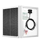 HQST 20W 12V Monocrystalline Compact Design Solar Panel High Efficiency Module Off Grid PV Power for...
