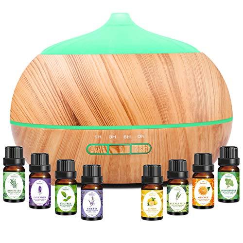Diffusore di aromi da, umidificatore diffusore di aromaterapia umidificatore per ambienti ad ultrasuoni con 7 colori LED per ufficio, yoga, spa, stan za ecc.