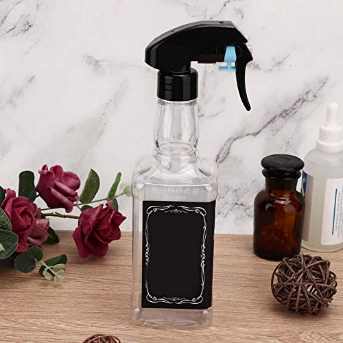Botella de spray vacía de peluquero recargable, rociador de agua de peluquería de 500 ml para uso diario para uso en salón para uso profesional para uso personal(Transparent color)