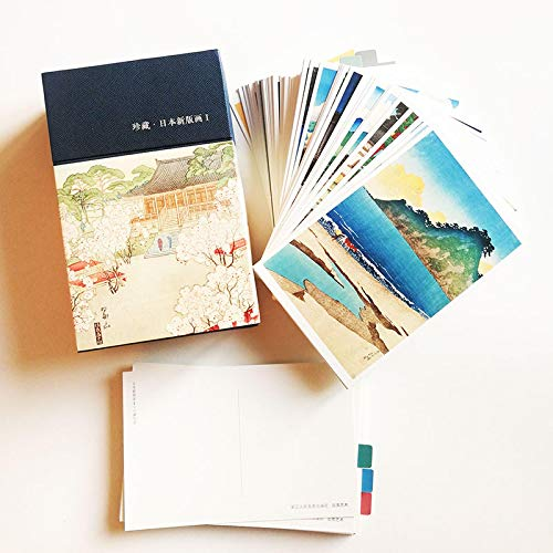 128 hojas/juego de postales japonesas con nuevas impresiones de Hashiguchi Goyo/Kawase Hasui Ukiyoe, juego de postales Vintage, tarjeta de felicitación 153 x 100mm