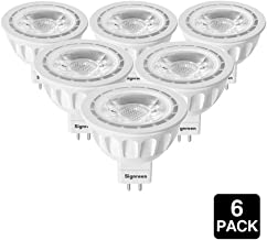 SIGNREEN MR16 LED Light Bulbs 5W, 6000K Cold White, GU5.3 Base, 50W Halogen Replacement, Non-dimmable, 40 Degree, 6 Packs�