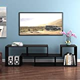 DEVAISE Versatile TV Stand, Entertainment Center Console, Bookshelf for Living Rooms, Black
