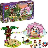 LEGO Friends Glamping in de natuur 41392 bouwset inclusief LEGO Friends Mia, een minipoppetjestent en een speelgoedfiets...