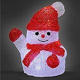 Deuba LED Acryl Figur Weihnachtsdeko Schneemann beleuchtet Weihnachten Deko Indoor Outdoor Weihnachtsfiguren