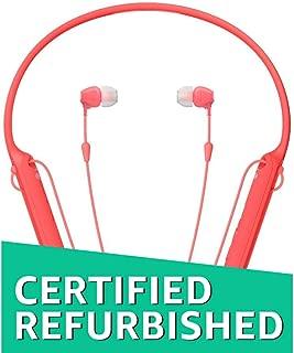 (Renewed) Sony WI-C400 Wireless Behind-Neck in Ear Headphone (Red)