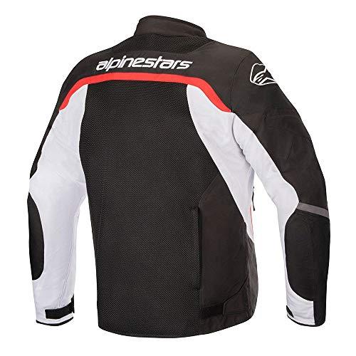 Alpinestars Men's Viper V2 Air Motorcycle Jacket, Black/White/Red, Large