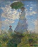 Puzzles para Adultos Rompecabezas de 500 Piezas - Claude Monet Mujer con sombrilla Puzzles de Madera Familiar Descompresión para niños Adultos Regalos de cumpleaños