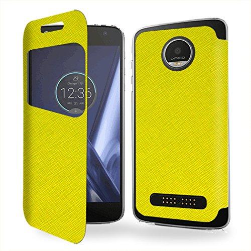 Case-Industry Mobilefashion Custodia Protettiva Case Cover per Motorola Moto Z - Esterno Modello Vert Collection Exception Cuoio PU