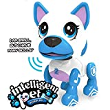 Liberty Imports Electronic Intelligent Pocket Pet Dog Interactive Puppy - Robot Dog Smart Toy for Kids with Voice Control