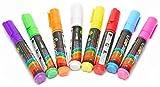 LED-Highlights 8 er Set Neon Stifte Bunt, Marker fluoreszierend 8 mm für LED Werbetafel,...