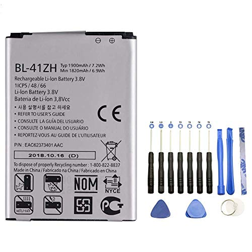 Vvsialeek BL-41ZH Replacement Battery Compatible with LG Tribute 2 Leon C40 Power L22C Destiny L21G Sunset L33L with Toolkit