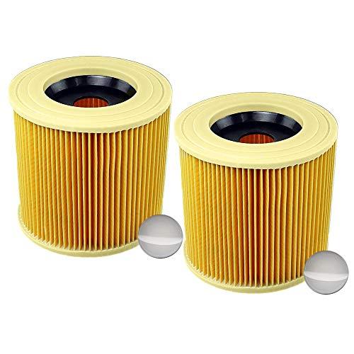 2x Patronenfilter Patronen Filter Staubsauger für Kärcher WD3 Premium WD2 WD3 WD 3 MV3 WD 3 P Extension KIT ersetzt 6.414-552.0, 6.414-772.0, 6.414-547.0