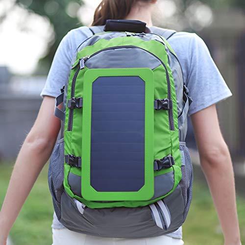 con Mochila de Viaje con Panel de Carga Solar para Ciclismo(Green)