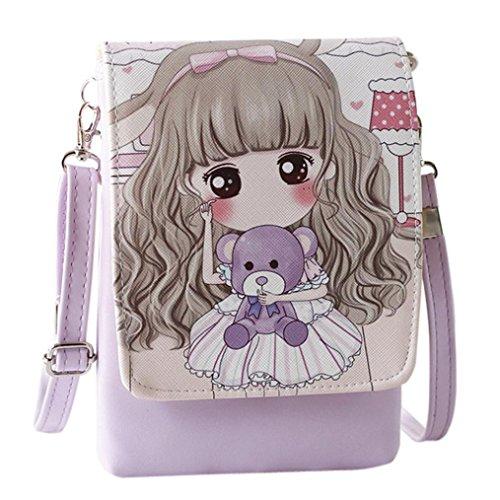 Rucksack Rcool Umhängetaschen Damen Handtaschen & Karikatur Handtaschen Kinder Mädchen Mini Crossbody Tasche (E)