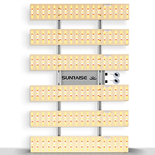 LED Grow Light SUNRAISE QB3000 3x4ft 4x4ft 4x5ft Dimmable LED Grow Lights with IR, Upgraded Full Spectrum LED Growing Lamp with 972Pcs LEDs Commercial Grow Lights Size 34.45' x 22.6' 300w