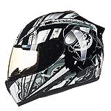 フルフェイスモーターサイクルヘルメット一体型フリップアップクラッシュヘルメットDOT認定モトクロスヘルメットバイザー付きモペットスクータークルーザー男性用および女性用サーマルヘルメット I,L=57~58cm