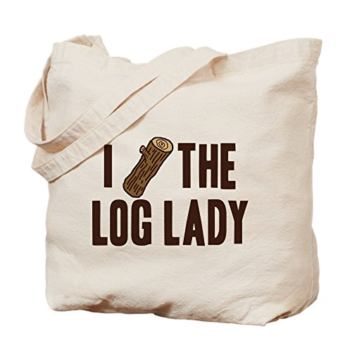 CafePress I Love The Log Lady Twin Peaks Bolsa, lona, caqui, Small