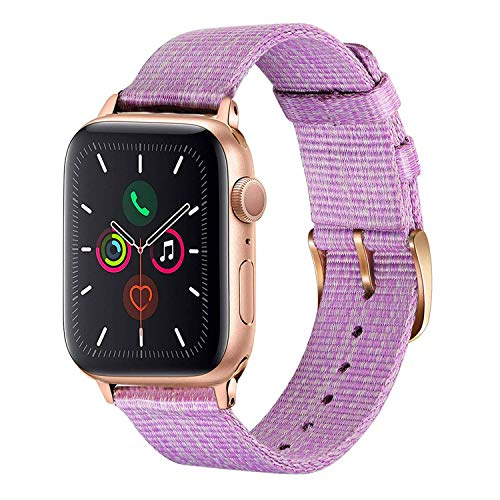 TRUMiRR Kompatibel mit Apple Watch 42mm 44mm Armband, Gewebtes Nylon Armband Uhrenarmband Sport Ersatzband für iWatch/Apple Watch Series 5, Series 4, Series 3, Series 2, Series 1