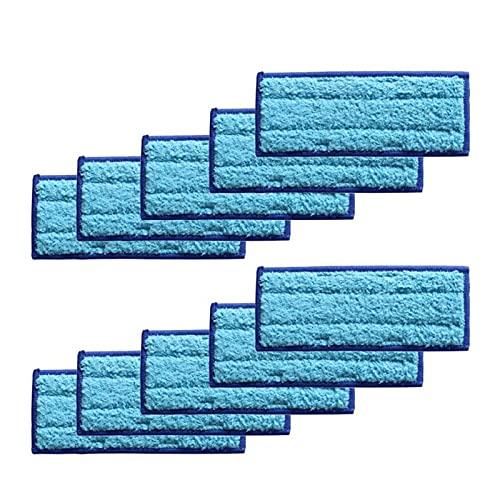FSLLOVE FANGSHUILIN 10Pcs / Set Wet Dry Mopping Pads Fit for Braava Jet 240 241 Kehrmaschine Roboter Ersatz Zubehör (Color : Blue)