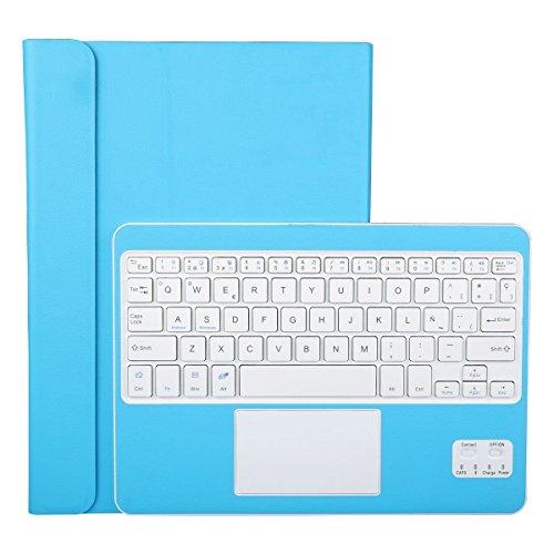 CoastaCloud Funda con Teclado Bluetooth Teclado Bluetooth Inalámbrico 3.0 QWERTY Español con Multi Touchpad - Compatible 9-10.5 Pulgadas Cualquier Windows/Android Tablet PC