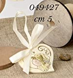Set de 12 recuerdos de primera comunión en forma de colgante con diseño de cáliz y mitra, 5 cm.