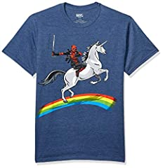 Officially licensed Marvel Deadpool T-shirt Standard Adult Men's sizes and Fit Avengers Assemble! Maximum effort is all Deadpool knows how to give.