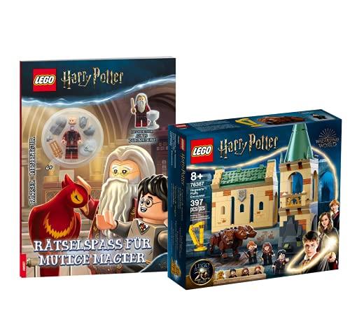Collectix Lego - Set Harry Potter Hogwarts: incontro con Fluffy 76387 + divertimento per maghi coraggiosi (copertina morbida) con mini statuetta Albus Dumbledore