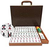 Mose Cafolo ~ American Mahjong Set - 166 White Engraved Standard Size Tiles, with Carrying Travel Case -Western Mah Jong, Mahjongg, Mah-Jongg, Set-No Racks and Pushers!