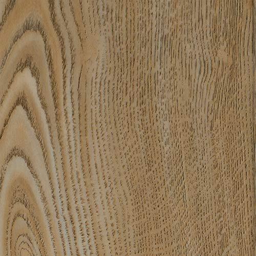 PVC Vinyl-Bodenbelag in Landhausdiele Eiche beige | CV PVC-Belag verfügbar in der Breite 200 cm & in der Länge 150 cm | CV-Boden wird in benötigter Größe als Meterware geliefert & robust
