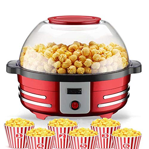 Best Buy! FZSWW Popcorn Machine with Detachable Heated Surface Non-Stick Coating Lid for Bowls Easy ...