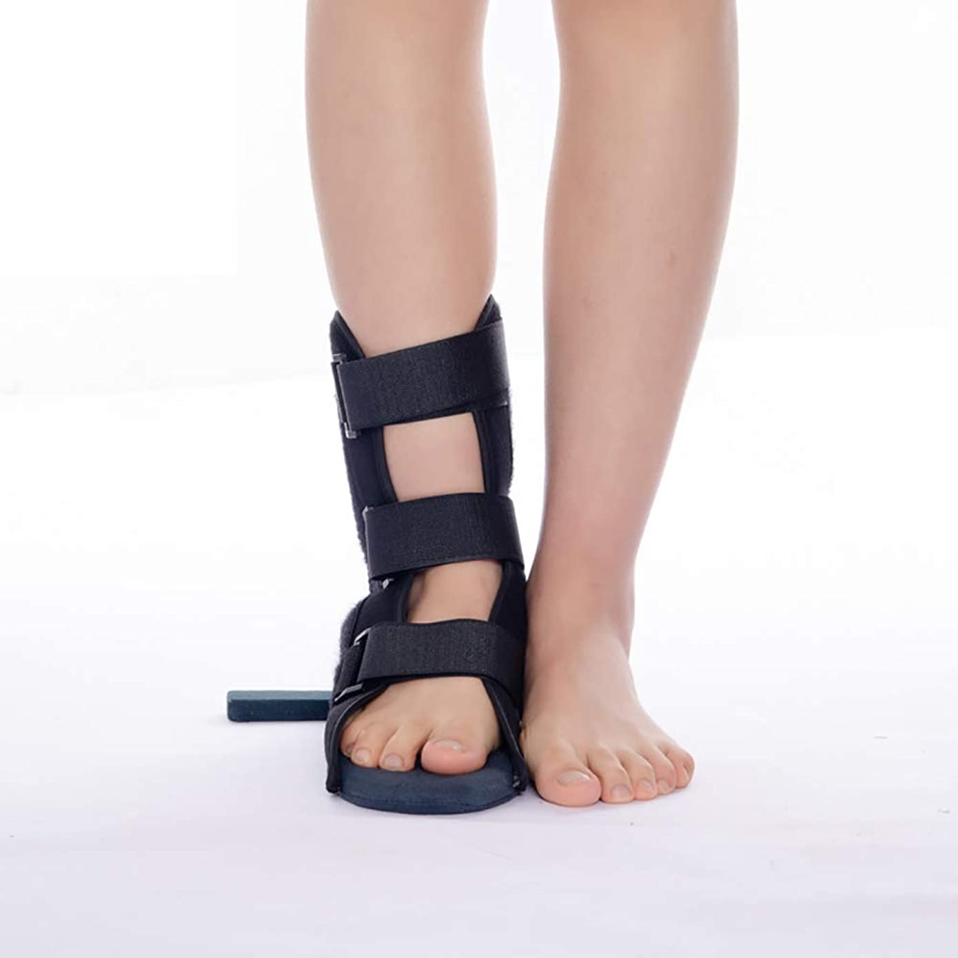 フィードバック占める順応性足固定整形外科用靴足ブレースサポート回転防止足首捻挫スタビライザーブーツ用足首関節捻挫骨折リハビリテーション