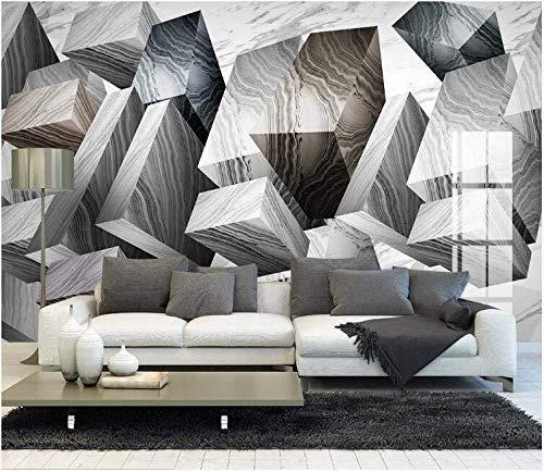 Behang reuzenplakaat vast geometrisch wandeffect van het steenmotief behang-3D 150 cm x 105 cm.