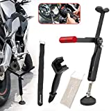 GUAIMI Motorcycle Rear Wheel Lift Stand Portable Paddock Stand Chain Cleaning Brush Tool Kit for Chain Cleaning & Chain Lubrication-Red