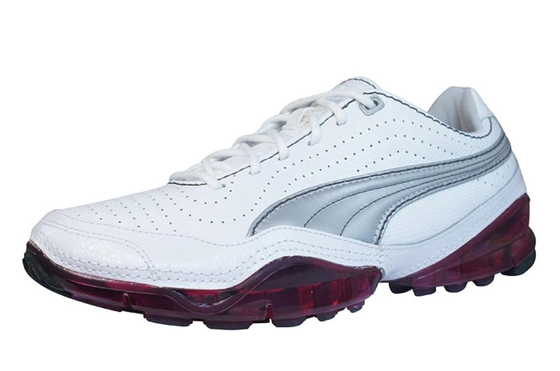 知覚的平行ゾーンPuma Cell Meio Womens Leather Running Sneakers / Shoes - White [並行輸入品]