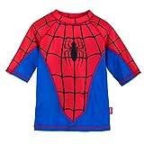 Marvel Spider-Man Rash Guard for Kids Size 5-6 Blue