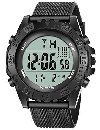 Reloj Digital Militar para Hombre,Relojes De Pulsera con Cronógrafo Deportivo Resistente al Agua para Hombre,Reloj Digital LED Multifunción De Gran/Alarma/Cronómetro Formato para Niño Adolescente