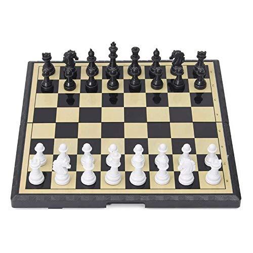 YWSZJ Verbesserte Magnetic Schachspiel, Schach-Brettspiel, inklusive Erwachsener Handgemachte Schachfiguren und Ablagefächer