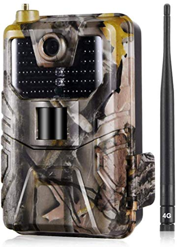 SYWJ HD Telescopio Digital Cámaras telescópicas 4G Trail 16MP 1080P con visión Nocturna 65 pies / 20m 940nm LED IR sin Brillo, cámara de Juegos 4G gsm MMS con Sensor de Movimiento Activado, Panta