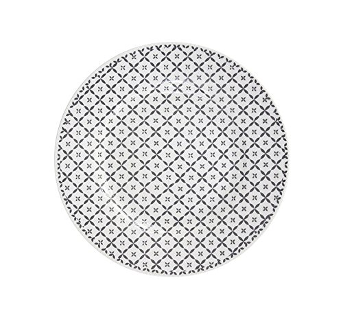 Unbekannt Speiseteller Diagonal Essteller Dessertplatte Frühstücksteller Teller Retro Vintage Shabby Kuchenteller Brotteller (Charcoal)